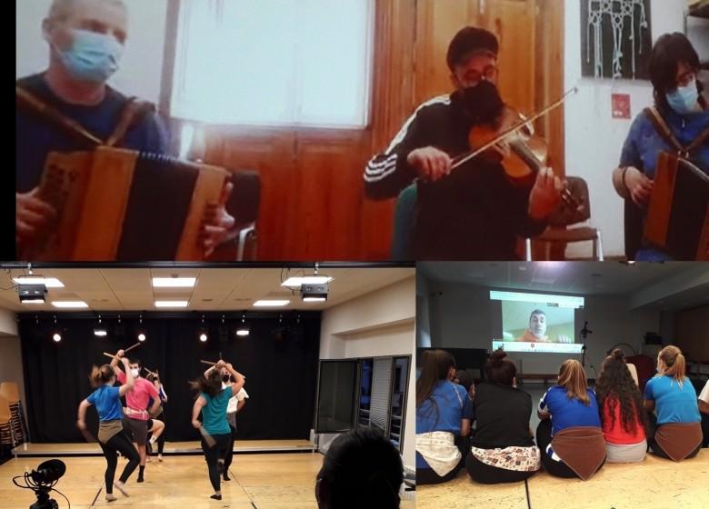 Principiaron as aulas de intercambio entre a Escola Municipal de Música de Errentería e a ETRADVIGO. Hoxe martes 11 será a quenda dos instrumentos de percusión, aérofonos e máis violín e arpa céltica.