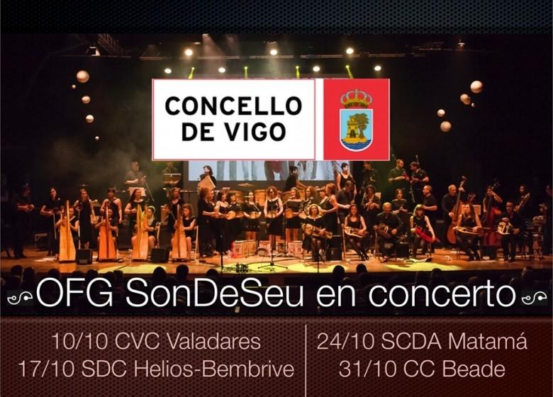 OFG SonDeSeu. Xira de outono. Centros culturais de Vigo. Derradeiro concerto. Xoves 31/10 ás 20.00h no C.C. de Beade