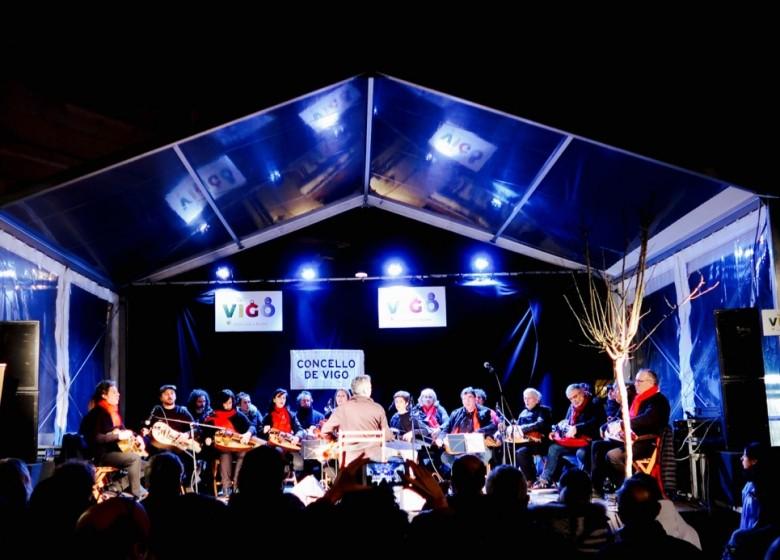 A ETRAD participa nos actos do Nadal do Concello de Vigo coas agrupacións de zanfona,  corda frotada e da banda de gaitas.