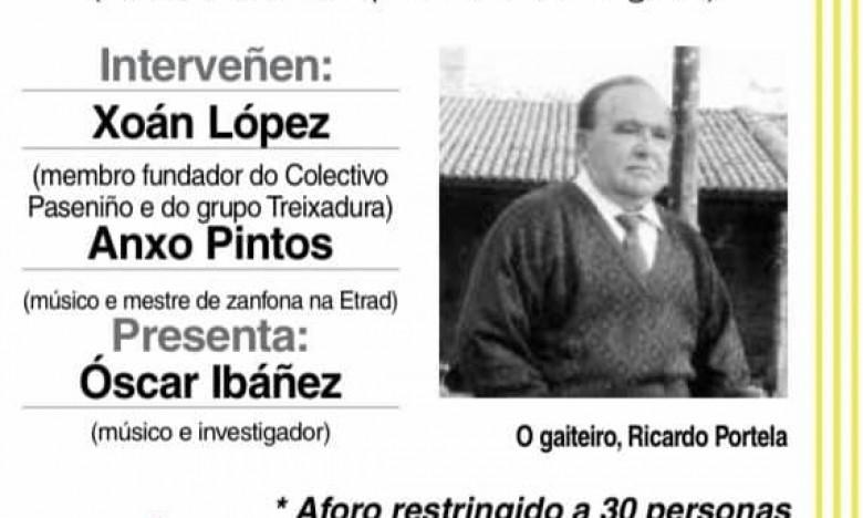GALAXIA ETRAD. O mestre de zanfona participa no encontro do Club Faro de Vigo sobre Ricardo Portela. Alento, vida e expresividade da gaita. Venres 13 de novembro ás 20 h. Salón de actos do MARCO